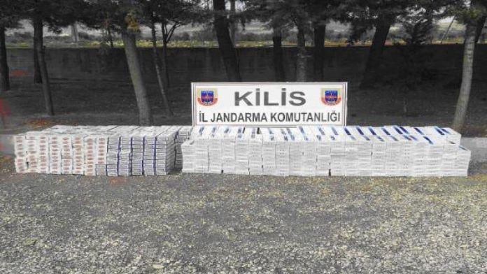 Kilis'te 10 bin 560 paket kaçak sigara ele geçti