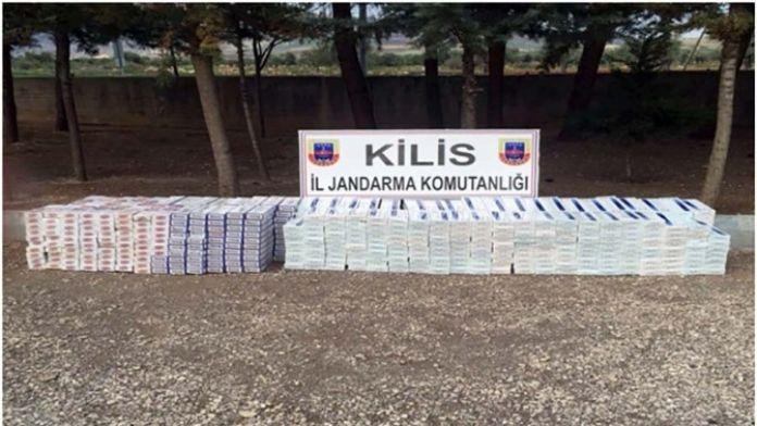 Kilis'te 7 Bin Paket Kaçak Sigara Ele Geçirildi