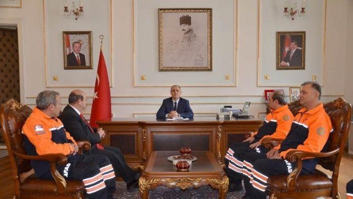 AFAD'dan Vali Salihoğlu'na Ziyaret