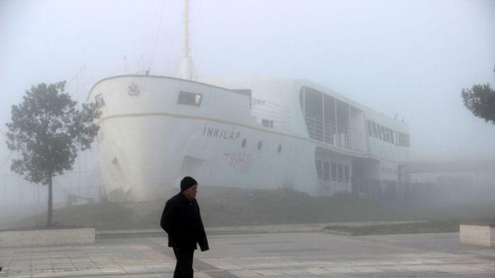 Yalova'da İDO seferlerine sis engeli