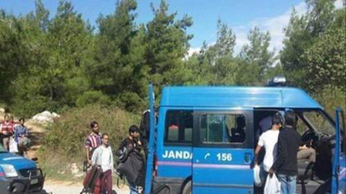 Tam 103 göçmen yakalandı