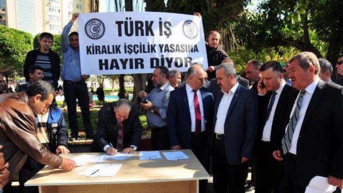 İşçilerden 'Kiralık İşçilik Tasarısı'na tepki
