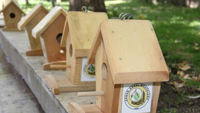 Ormanlara 13 yılda 670 bin kuş yuvası konuldu