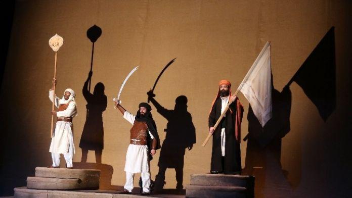 Aksaray'da Ömer Bin Hattab Tiyatro Oyunu İzleyici İle Buluştu