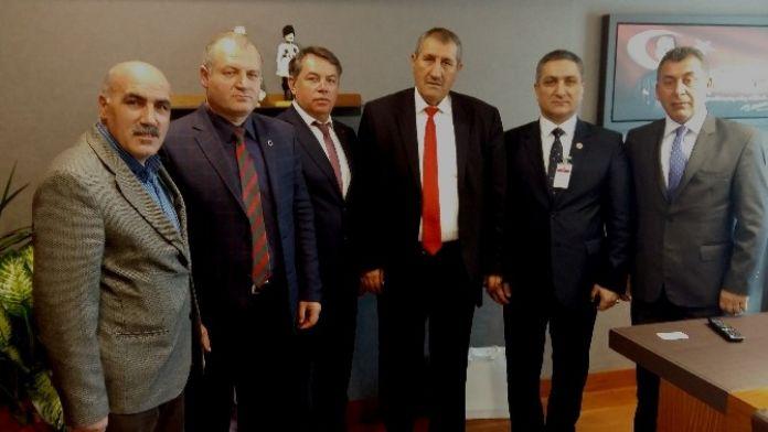 STK Temsilcilerinden AK Partili Aras'a Ziyaret