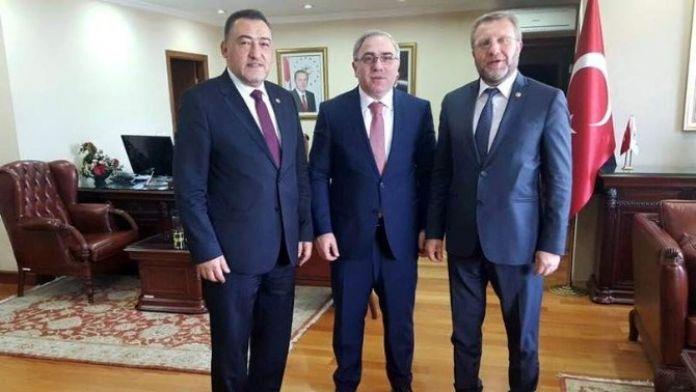 Şükrü Nazlı Ve Ahmet Tan TOKİ Başkanı Ergün'ü Ziyaret Etti