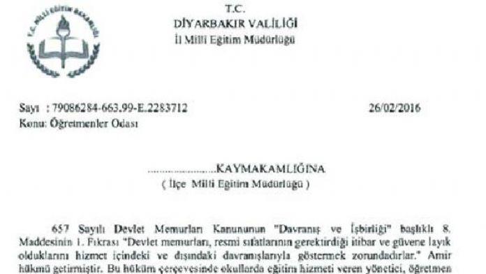 Diyarbakır'da okullara 'bölücü propaganda' uyarısı
