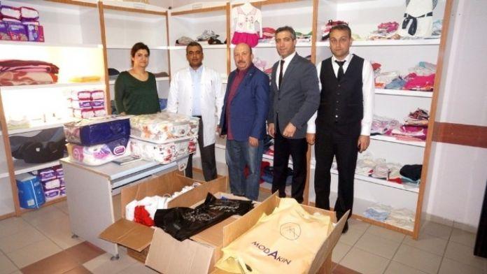'Hastane Sosyal Market'e Alaşehir TSO'dan Anlamlı Bağış