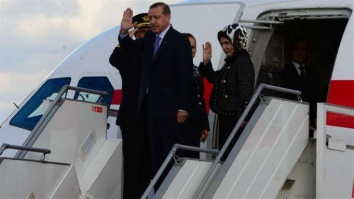 Erdoğan törenle karşılandı