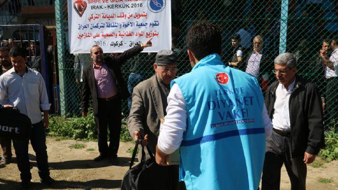 Türkiye Diyanet Vakfı'nın Kerkük'teki iç göçmenlere yardımı