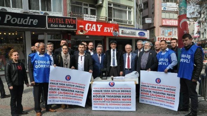 Türk-iş'den 'Kiralık İşçi' Tepkisi