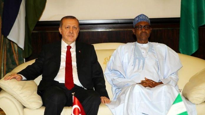 Erdoğan, Nijerya Devlet Başkanı Buhari İle Görüştü