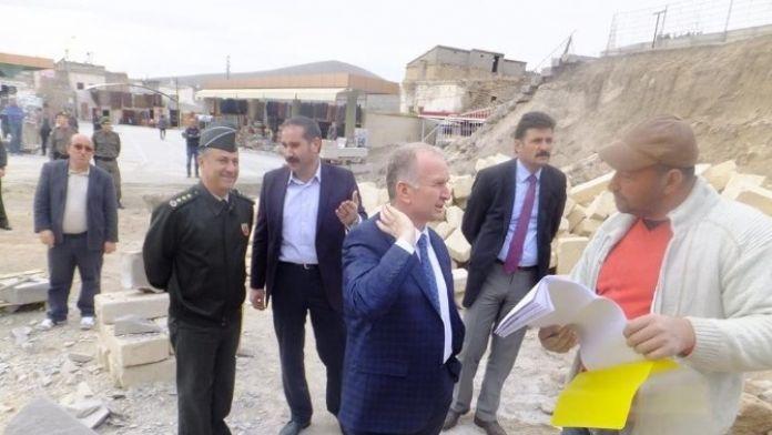 Vali Ceylan, Kaymaklı'da Yer Altı Kentsel Tasarım Projesini İnceledi