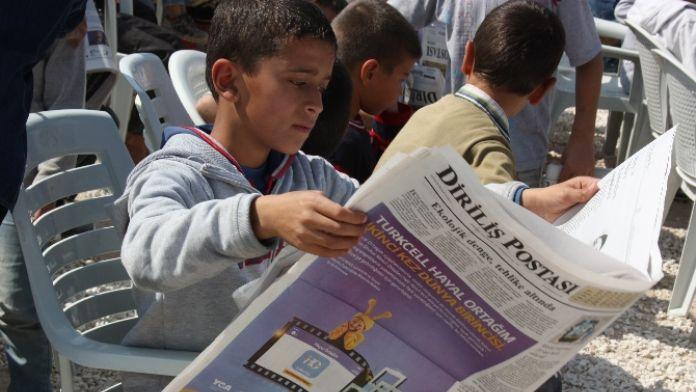 Birinci yılı Suriyeli çocuklarla kutladılar