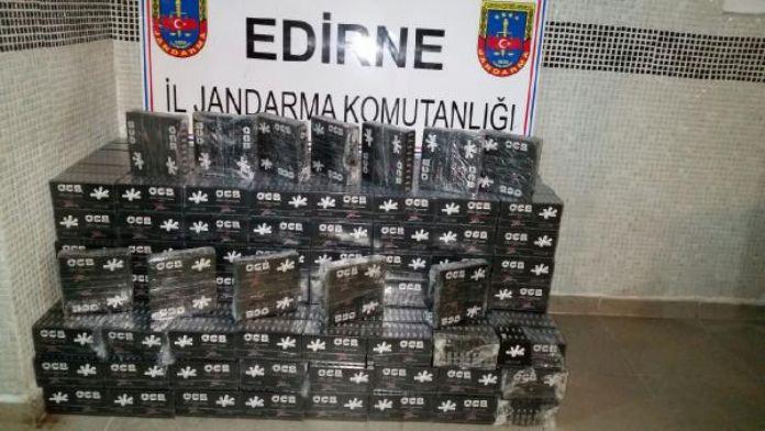 TIR'da kaçak et ve sigara filtresi ele geçirildi