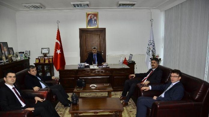 Başsavcısı Ve Ağır Ceza Reisi Başkan Yiğit'i Makamında Ziyaret Ettiler