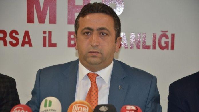 MHP Bursa İl Başkanı Yılmaz: