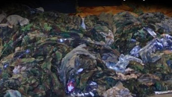 20 bin IŞİD üniforması ele geçirdiler!