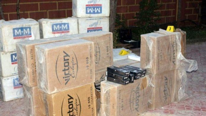 Siirt'te 75 Bin 342 Paket Kaçak Sigara Ele Geçirildi