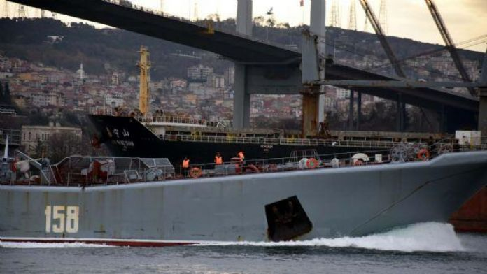 Russian warship traverses Bosphorus again