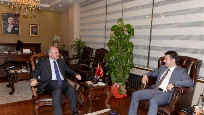 Türkiye Cimnastik Federasyonu Başkanı Çelen'den Vali Çakacak'a Ziyaret