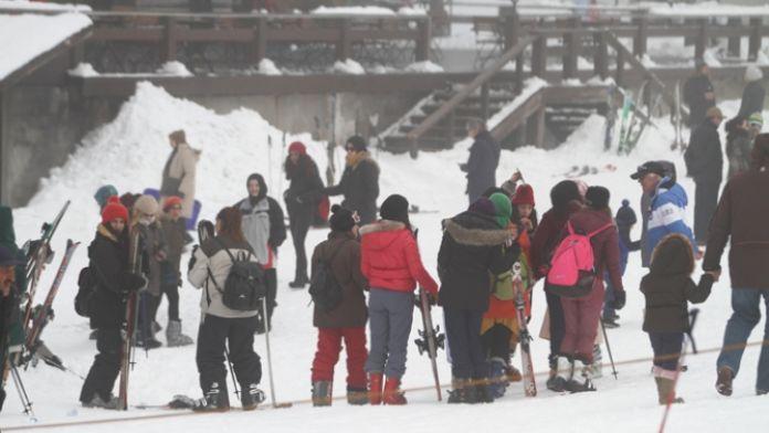 Uludağ'da kar kalınlığı 25 santimi geçti