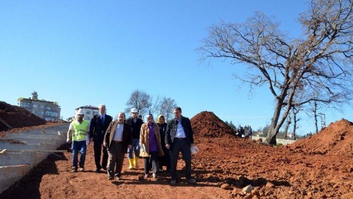 Başkan Gümrükçüoğlu, Botanik Parkında İncelemelerde Bulundu