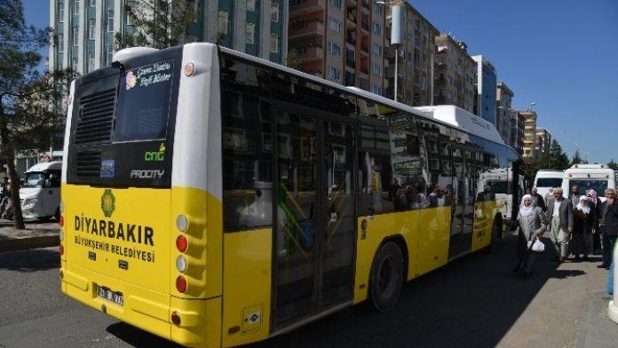 Diyarbakır'da Yarın Kadınlara Ulaşım Ücretsiz