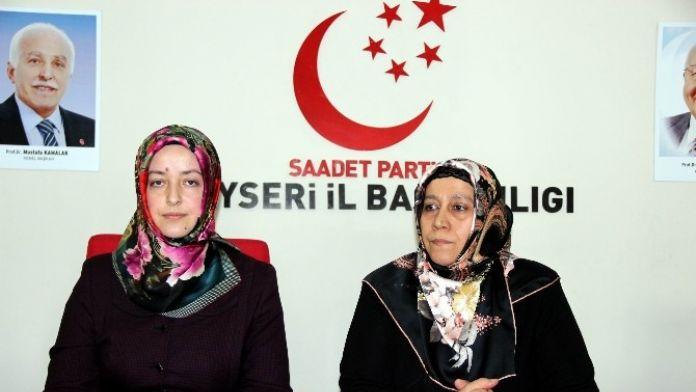 Saadet Partisi Kayseri Kadın Kolları Eğitim Başkanı Emel Genç: