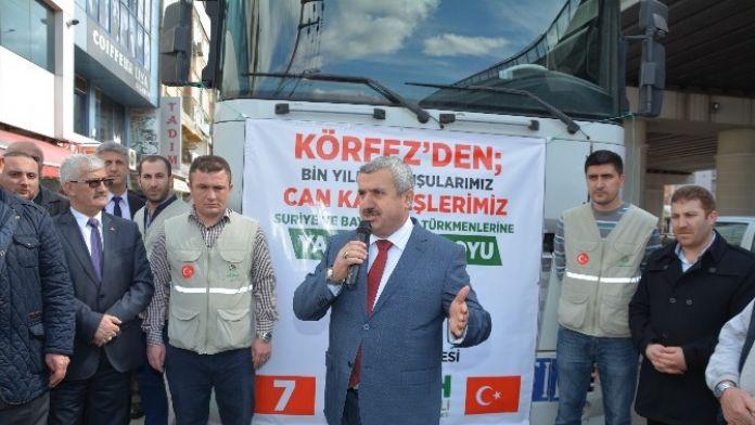 Körfez Belediyesi'nden Türkmenlere Yardım Eli