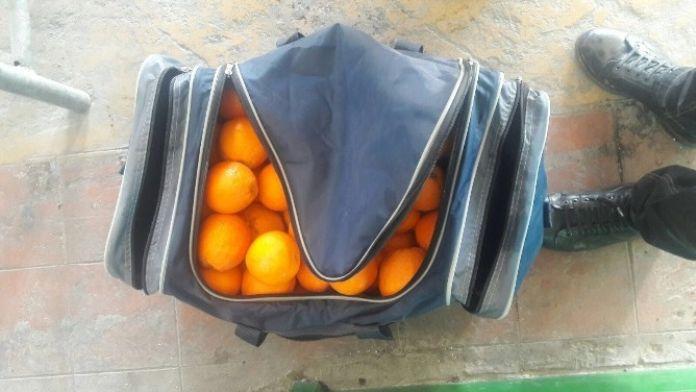 Şüpheli Çantadan Portakal Çıktı