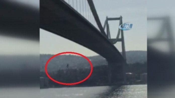 Boğaz Köprüsü'nden ölüme böyle atladı