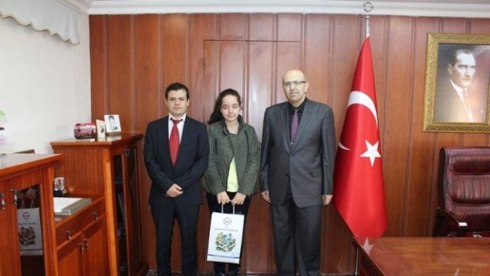 TEOG'un Şampiyonlarından Kaymakam Canatan'a Ziyaret