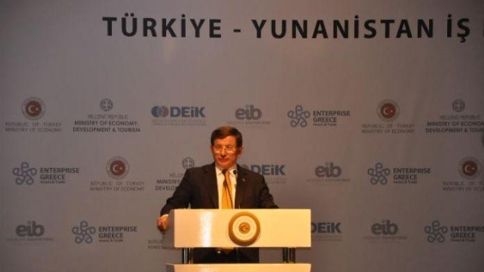 Davutoğlu, Türk Yunan dostluğuna vurgu yaptı
