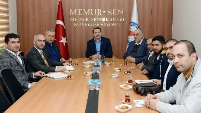 Kudüs Ve Filistin Destekleme Birliği'nden Memur-sen'e Ziyaret