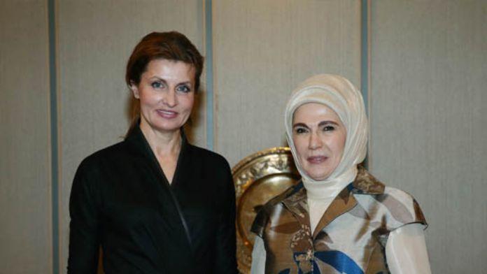 Maryna Poroşenko, Emine Erdoğan'ın konuğu oldu
