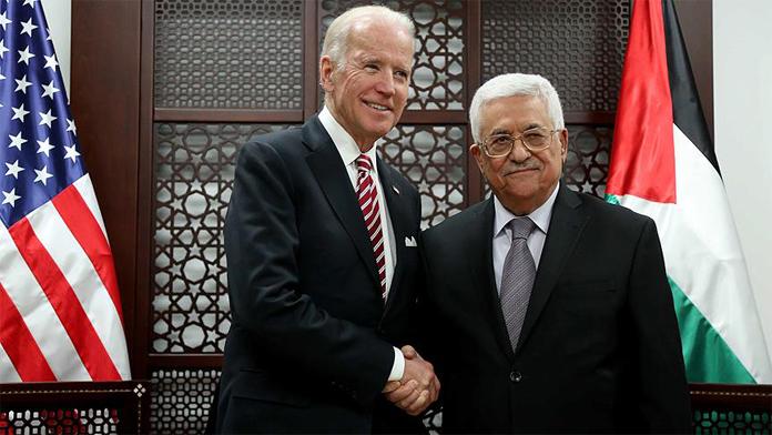 ABD Başkan Yardımcısı ve Filistin Devlet Başkanı bir araya geldi.