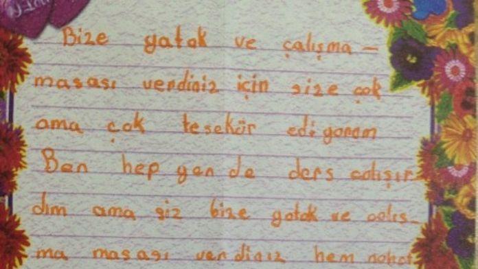 Minik Edanur'un Yazdığı Mektup Belediye Çalışanlarını Duygulandırdı
