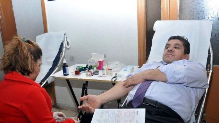 Orman Bölge Müdürülüğü Personelinden Kızılay'a Kan Bağışı