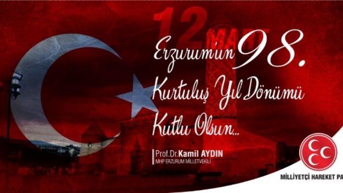 Milletvekili Aydın'dan 12 Mart Mesajı