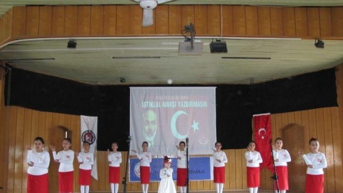 Öğrenciler İstiklal Marşı'nı İşaret Diliyle İfade Ettiler