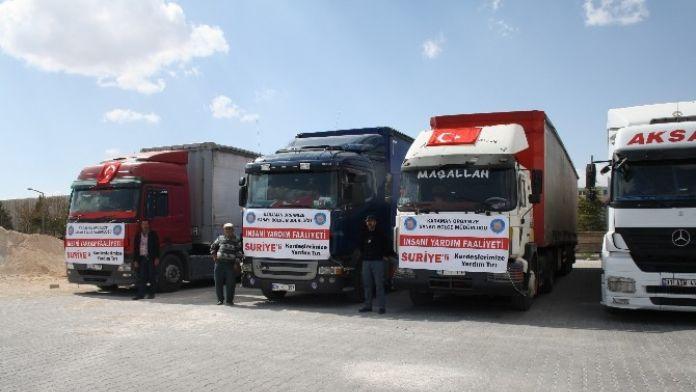 Karaman OSB Müdürlüğü'nden Suriyelilere Yardım Eli
