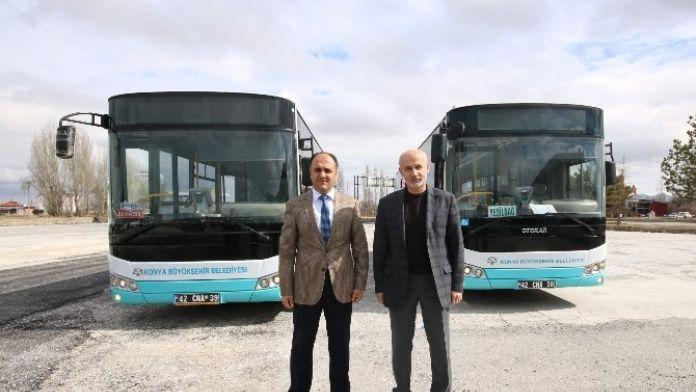 Beyşehir'de Ulaşıma Yeni Otobüsler