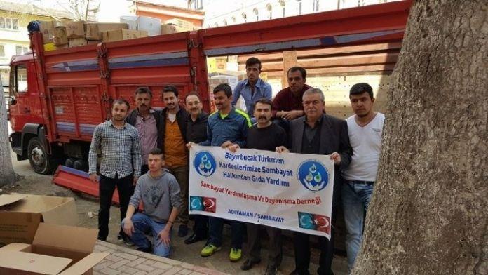 Şambayat'tan, Bayır Bucak Türkmenlerine Gıda Yardımı