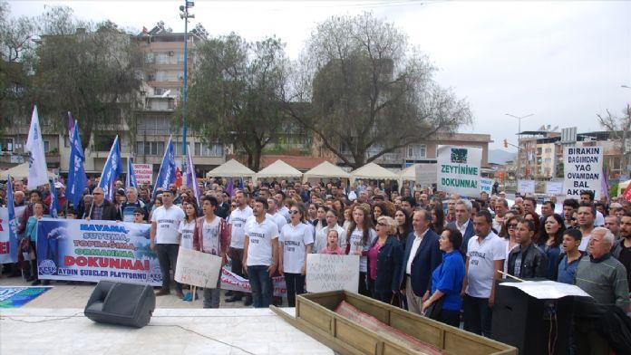 İncirliova'da 'jeotermale hayır' mitingi
