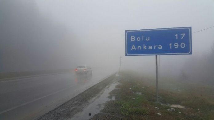 Bolu Dağında Görüş Mesafesi 20 Metreye Düştü