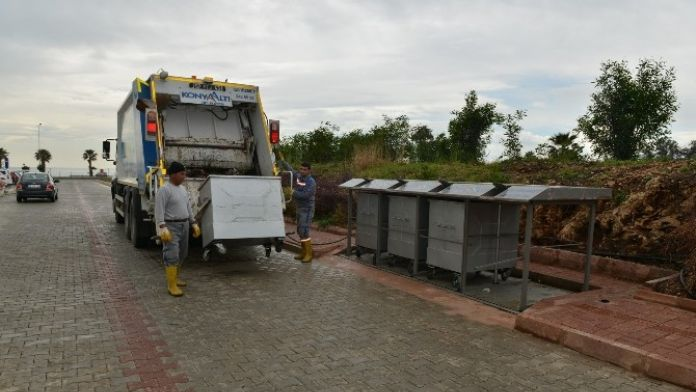 Konyaaltı'nda 550 Konteyner Yer Altına Alındı