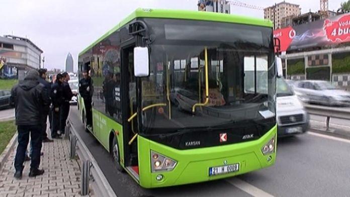 İstanbul'da şüpheli otobüs alarmı !