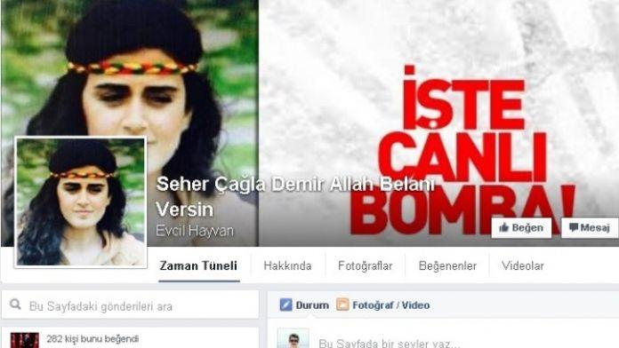Canlı bombaya sosyal medyada büyük tepki