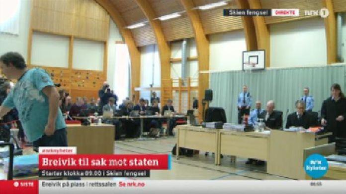 Seri katil Breivik'in Norveç devletine karşı açtığı davanın duruşması başladı